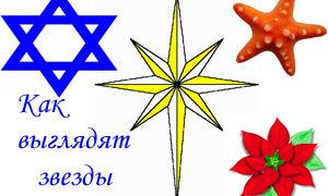 Как выглядят звезды: вифлеемская, рождественская, морская, звезда Давида на фото