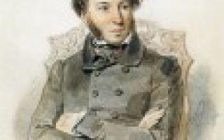 Портрет Пушкина (описание внешности Пушкина А.С.)