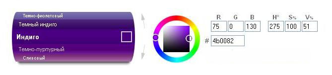 как выглядит цвет индиго
