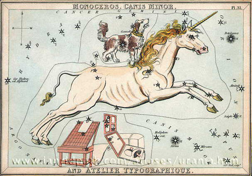созвездие Единорог картинка