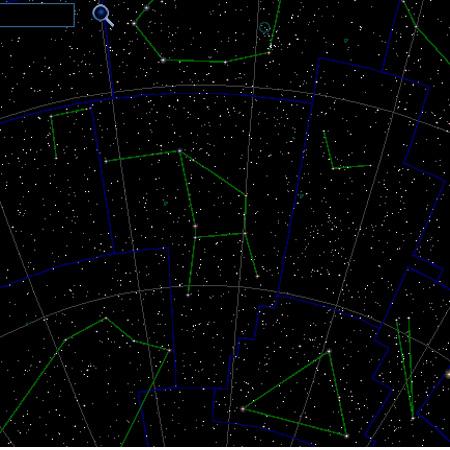 Созвездие Жертвенник на небе