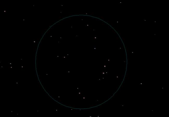 созвездие Жертвенник на небе фото